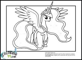 My Little Pony Coloring Pages Princess Celestia In A Dress 55