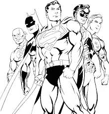 Superman And Friends Coloring For Kids
