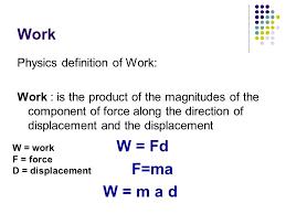 2 Work Physics Definition