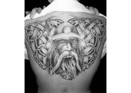 Traditional Viking Tattoos On Back Of Men