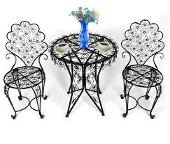 HLC 3 Piece Outdoor Cast Iron Patio Furniture Set With Table ...