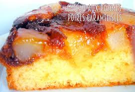 gateau pommes poires caramélisées facile recettes faciles