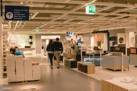 walks around inside the ikea store in cologne