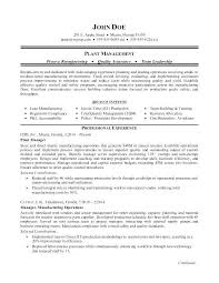 Controller Resumes Branch Resume Sample For A Manufacturing Plant Manager Free Download Great