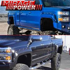 2014-2016 Silverado Set 4 Riveted Style Bolt On Fender Flares Wide ... Dodge Bushwacker Photo Gallery Rock Guards Linexd Gaurds And Fender Flares Extafender 12016 Ford F350 Front Toyota Pocket Style Flare Set Of 4 092014 F150 Barricade Raptor Review Boltriveted For 62018 Tacoma Aev Ram High Mark Free Shipping 22015