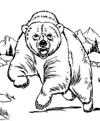 Free Coloring Grizzly Bear Pages At Angry