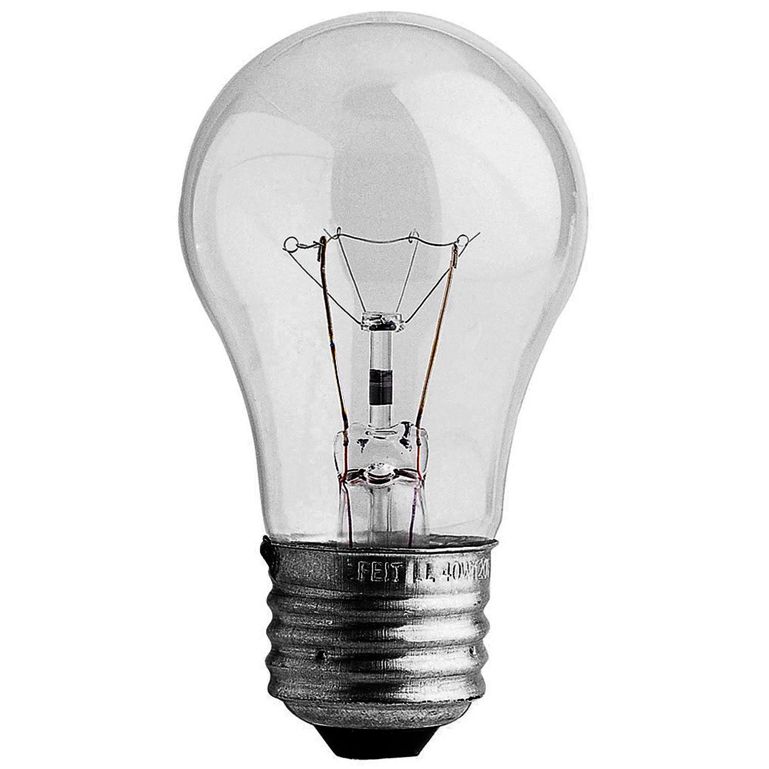 Feit Electric Incandescent Appliance Light Bulb - 40W, A15, Clear