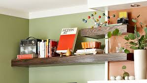 floating wrap around wall shelves