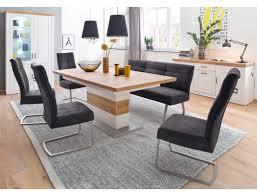 esszimmer bruneck 143 pinie weiß bank stuhl talida anthrazit 8 teilig expendio