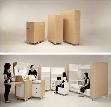 Kenchikukagu Apartment Folds Out of a Box Well 3 Boxes