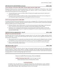 Sample Resume For Medical Office Administration Manager 2