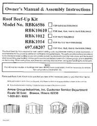 Arrow Shed Assembly Tips by Arrow Shed Roof Strengthening Kit Except Swing Doors Walmart