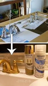 spray paint a bathroom faucet to let it look more expensive