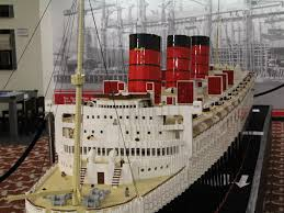 Lego Ship Sinking 2 by Lego Queen Mary Exhibit At The Queen Mary In Long Beach