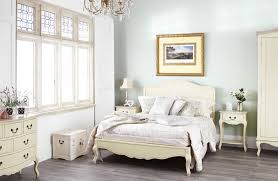 Shabby Chic Champagne Painted 6ft Super King Size Bed With Wooden