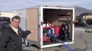 Power Washer Pressure Washer Enclosed Trailer Environmental - YouTube