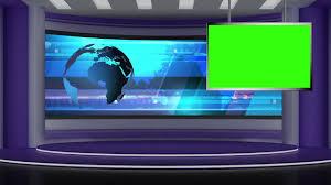 News TV Studio Set 73