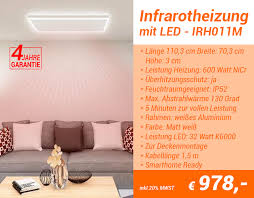 infrarotheizung mit led beleuchtung irh011m