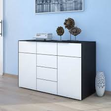 schlafzimmer sideboard riusa in schwarz weiß