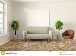 100 Modern Living Room Couches Sofa And Poster Stock Illustration