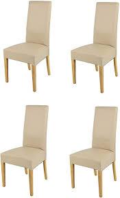 tommychairs 4er set moderne stühle luisa für küche und esszimmer robuste struktur aus lackiertem buchenholz farbe eiche gepolstert und mit