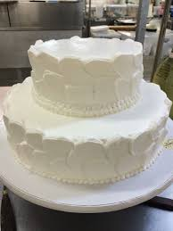Two Tier Rustic Finish Cake With Visible Spatula Strokes In White Appropriate Fresh Flowers