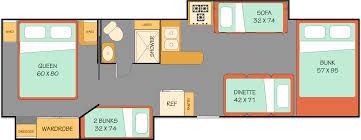 C Floor Plans by Alaska Rv Motorhome Rentals Clippership Anchorage Luxury Class C