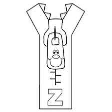 Letter Z For Zip Is Zeppelin Coloring Pages