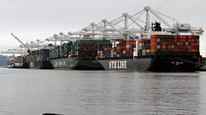 100 Shipping Containers San Francisco Port Of Oakland Has Hanjin Shipping Containers Stacked Five