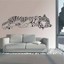 wandtattoo wandaufkleber wandsticker tiger liegend afrika