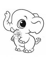 Cute Elephant Coloring Pages Tryonshorts Free Online