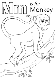 Click To See Printable Version Of Letter M Is For Monkey Coloring Page