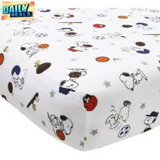 Snoopy Crib Bedding Set by 3 Piece Snoopy Sports Crib Bedding Set Comforter Crid Skirt Fitted