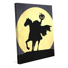 Headless Horseman Pumpkin Spice Whiskey by Headless Horseman U0027 Canvas Wall Art The Headless Horseman