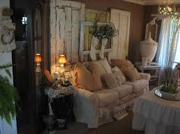 Shabby Exclusive Rustic Living Room With Simple Christmas Decor Ideas Chic Cottage Design And Decoration
