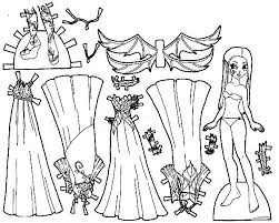 Doll Dress Fabulous Coloring Pages