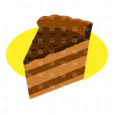 Piece of chocolate cake Royalty Free Vector Clip Art