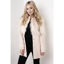 Pale Pink Fur Coat JacketIn