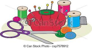 Sewing A group of sewing supplies including a pair of vector
