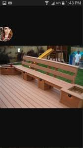 deck bench but wrap around 3 sides and put a table in the