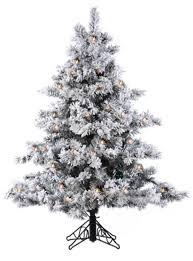 Pre Lit Flocked Alaskan Christmas Tree by 4 5 U0027 Pre Lit Flocked Alaskan Artificial Christmas Tree Clear