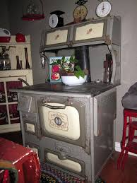 Antique Home fort gray granite wood burning cook stove
