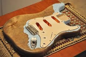 Heavy Relic Strat Stratocaster Guitar BODY Daphne Blue US Made 2 Piece Alder Copper Shielding
