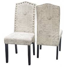 Merax Print Fabric Accent Chair Dining Room Chair, Set Of 2 ...