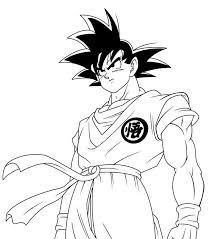 Goku Printable Coloring Pages 3
