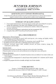 Cv Examples Work Experience Section Resume Template With No For Visualize Job Sample High Stanmartin