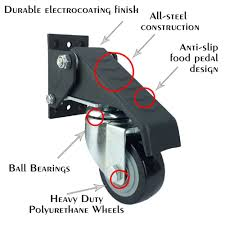 4 Sets Office Chair Caster Wheels Swivel Rubber Caster Wheels ... Amazoncom Opttico Office Chair Caster Wheels Replacement Black 3 Set Of 5 By Lehawk Universal Heavy Rollerblade Casters For Herman Miller Aeron 6pcs Wheel Swivel Mute Hard Soft Pu Castor For Timber Floor Pack Duty Stem Roller 3inch 1pcs 40kg 2 Improv Carpet Floors Slipstick Foot Desk No Without White Luxura Computer With Which One Should I Choose