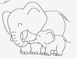 Coloring Pictures Of Elephants Kids