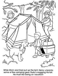 Camping Coloring Page Dover Publications