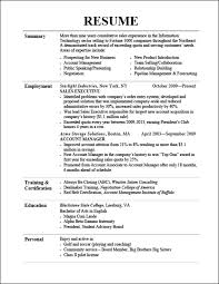 Resume Paper Examples